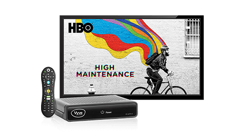 Vyve XSTREAM TV box and remote control