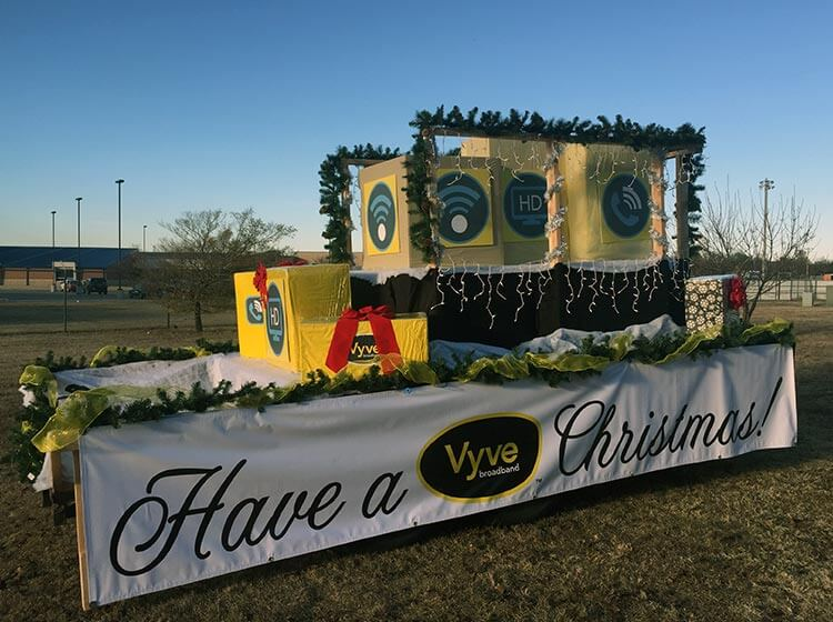 The Vyve Shawnee Christmas Parade float